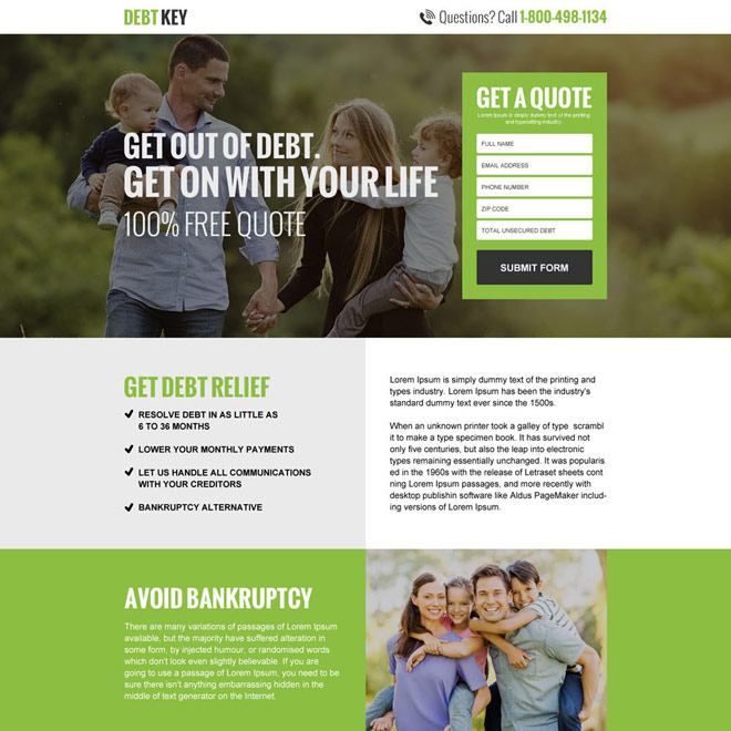 Reduce Your Debt Repayment Quote Lp 044 Debt Landing Page Design Preview Debt Relief Debt Repayment Mortgage Humor
