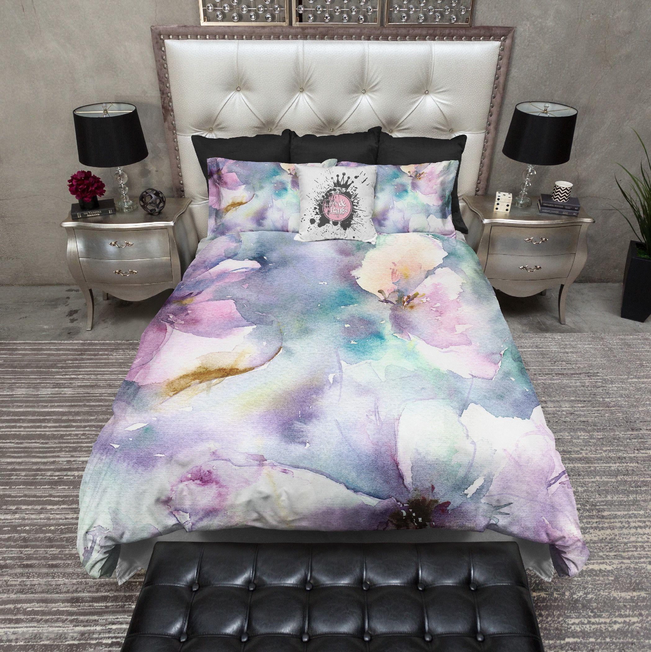 Photo of Biancheria da letto floreale dell'acquerello morbido