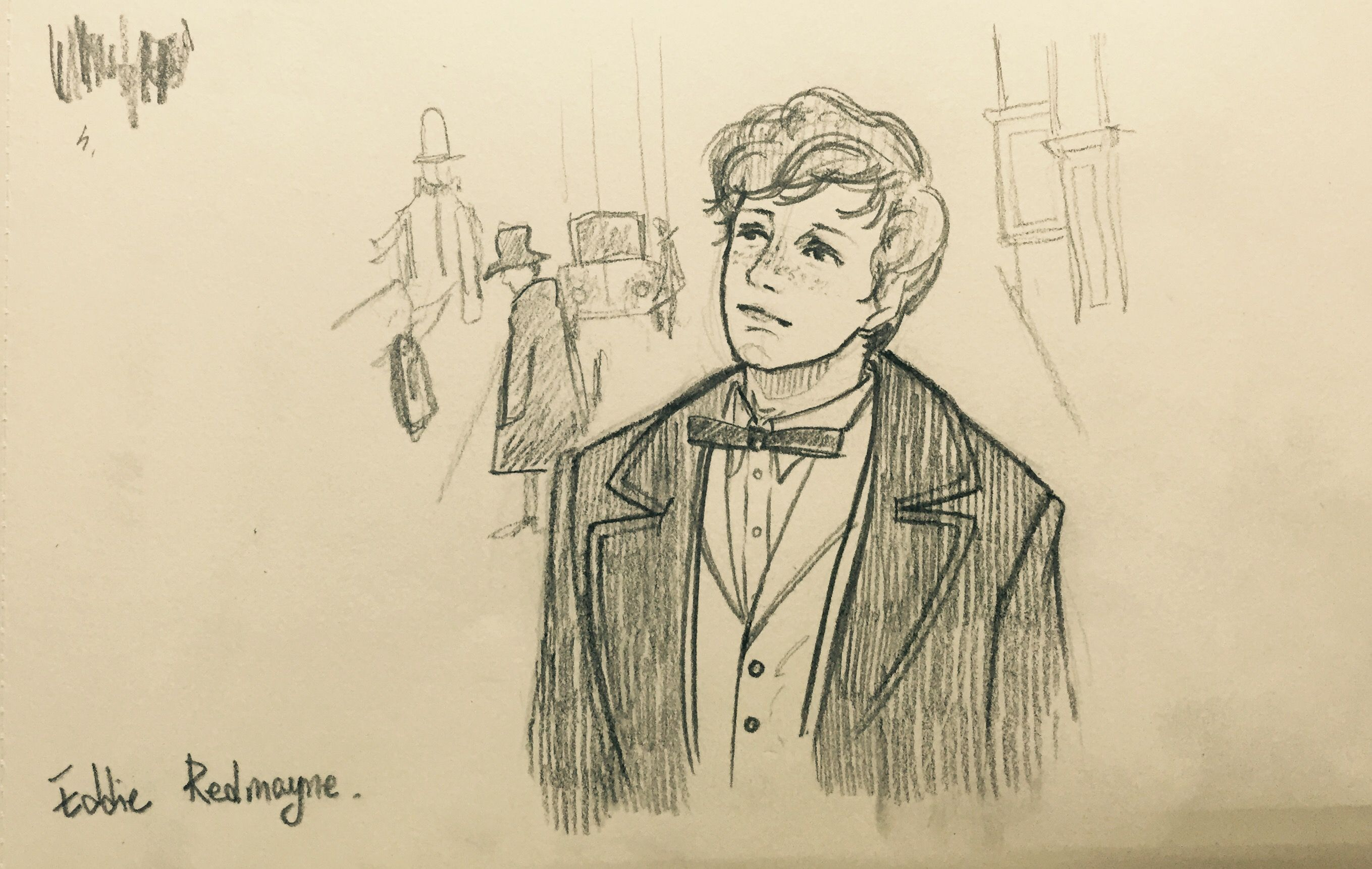 Fantastic Beasts And Where To Find Them Eddie Redmayne Pencil Drawing