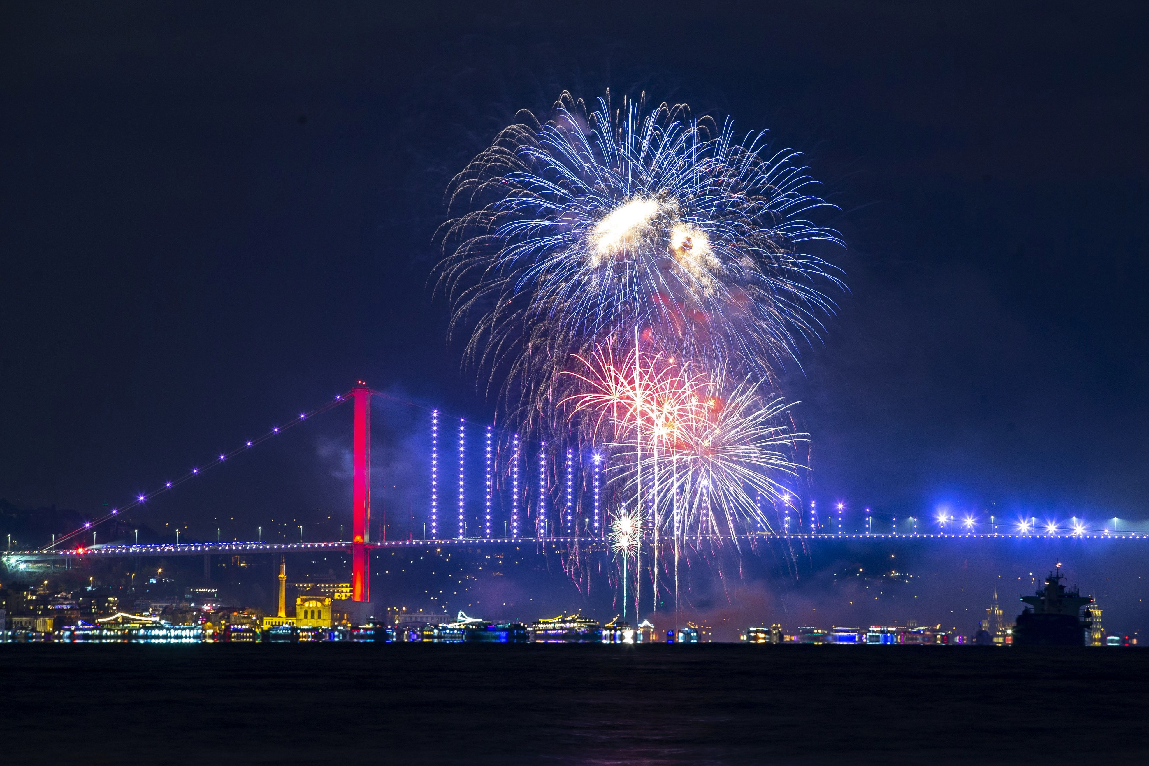 Pictures From 2020 New Year's Eve Celebrations Across the