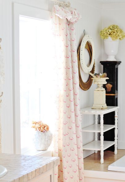 tenda panna con fantasia rosa