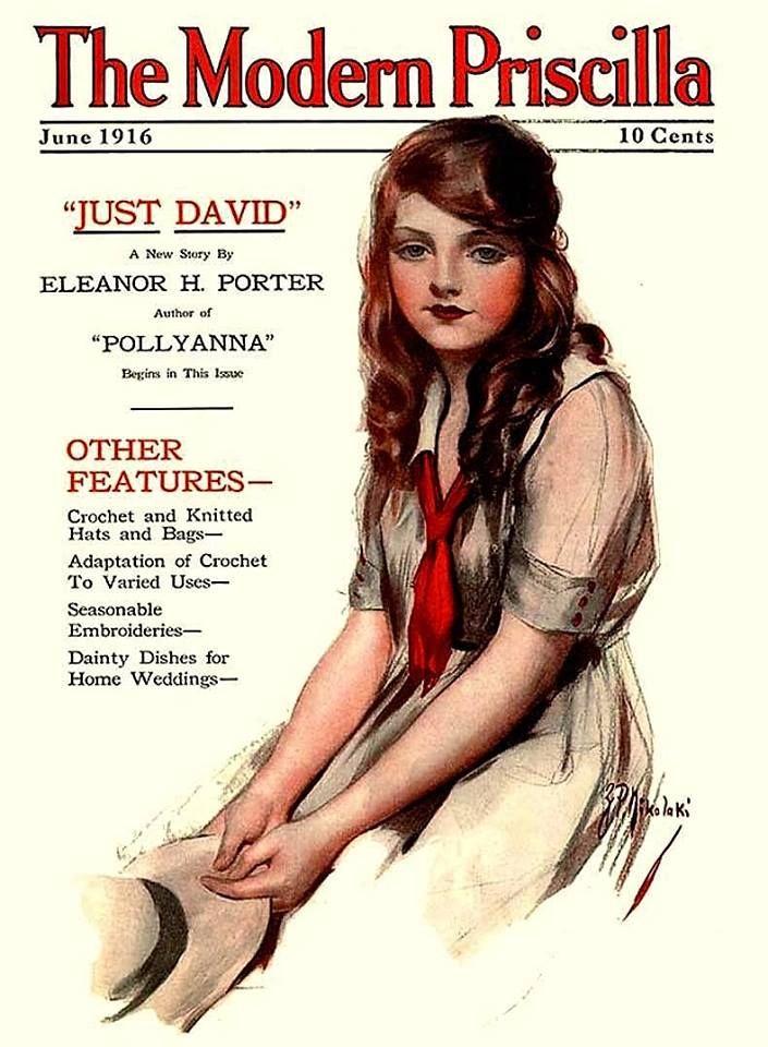 1916 Modern Priscilla Magazine Cover ~ Woman in Sailor