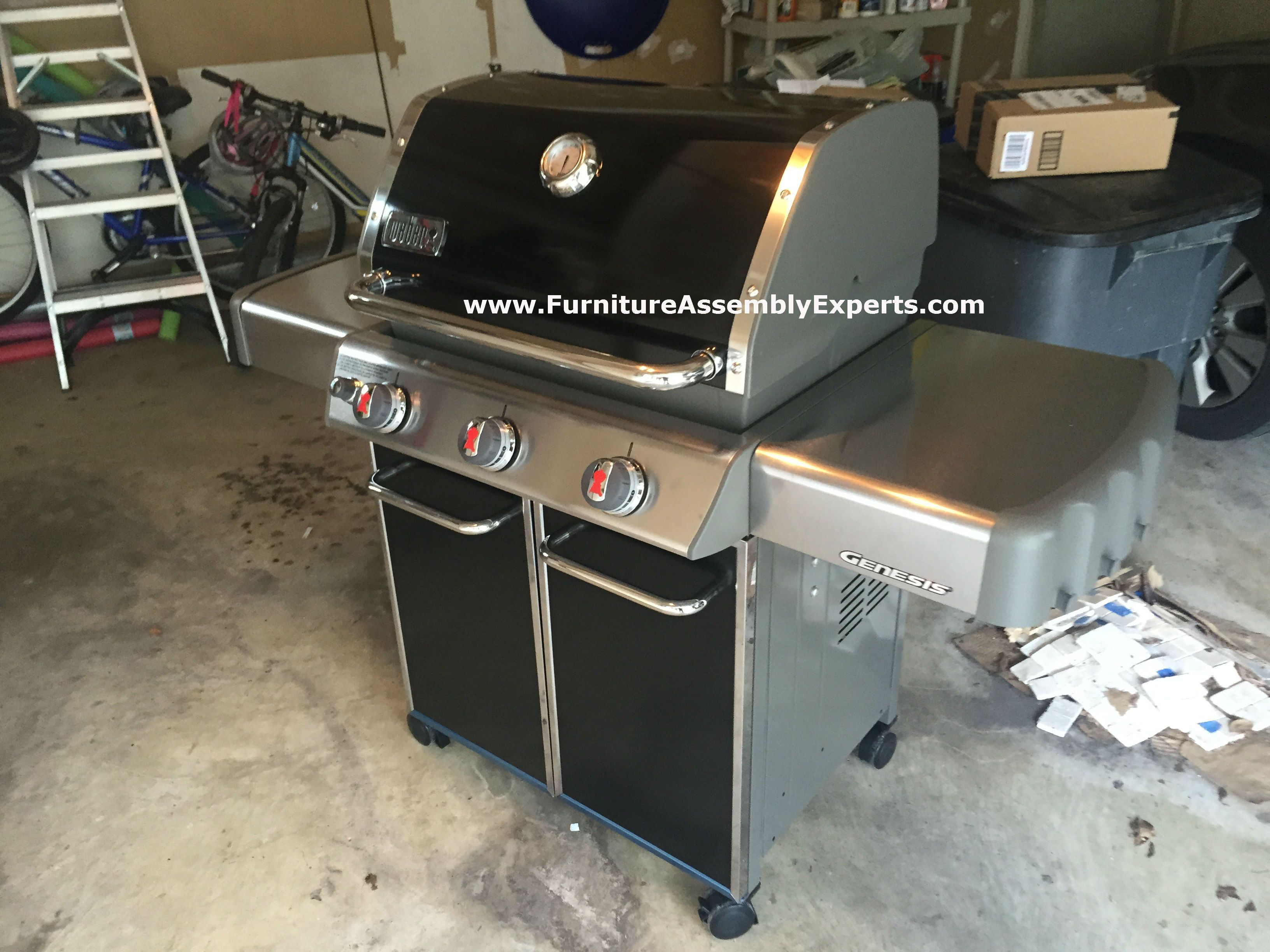 weber genesis gas grill from amazon assembled for a