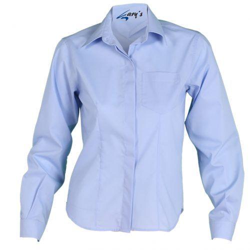 d6b1107ee40 2481 Camisa chica manga larga color azul celeste #uniformes #hostelería  #camarero #Garys