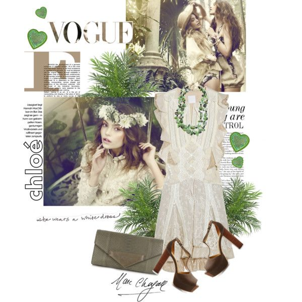 She wears a white dress..., created by caferosa.polyvore.com