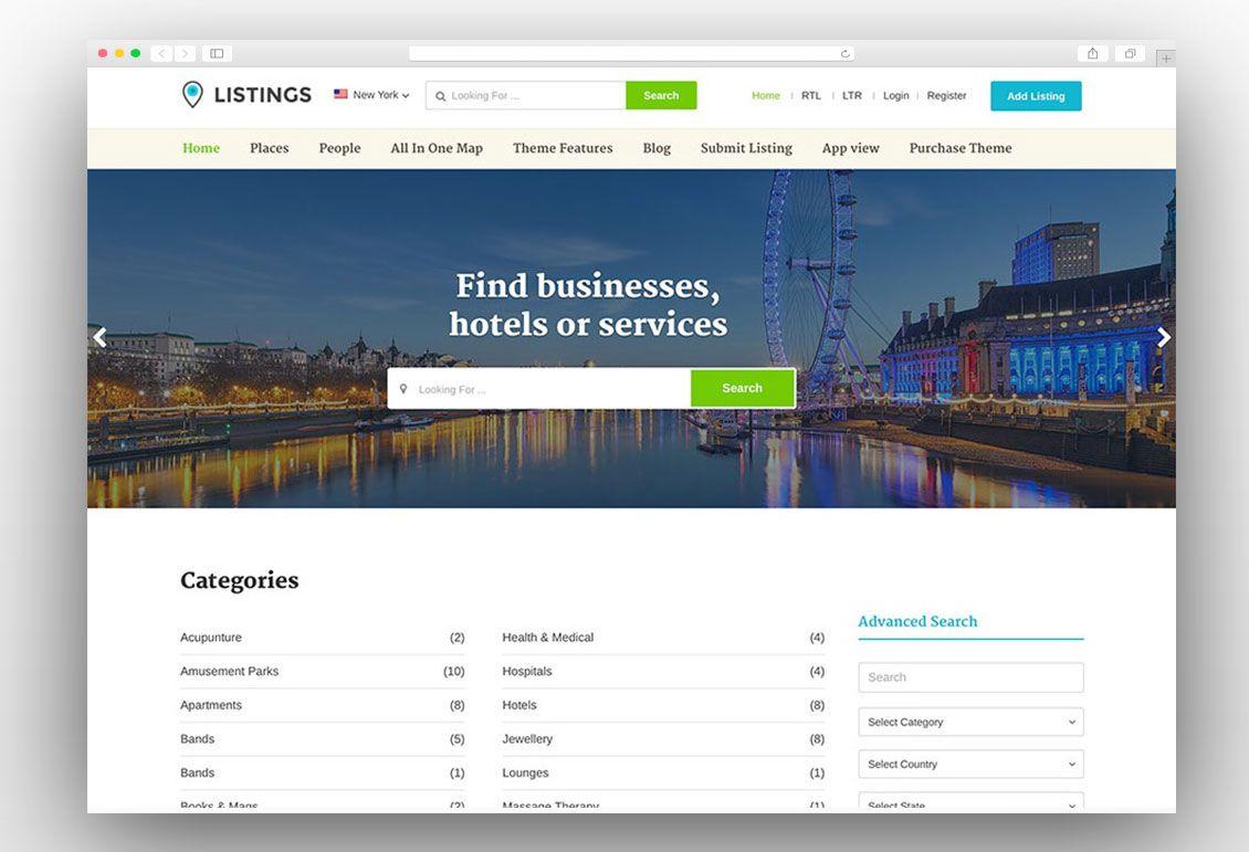 Listings By Templatic Wordpress Theme Theme Wordpress