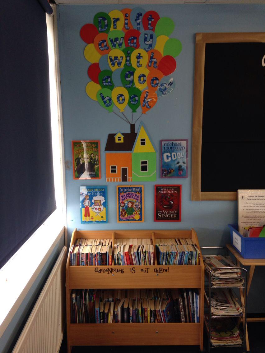 Classroom Corners Ideas ~ Disney pixar up themed book corner kassi s classroom