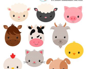 animal train clipart set clip art set of mycutelobsterdesigns rh pinterest com au cartoon clipart of farm animals clipart of baby farm animals
