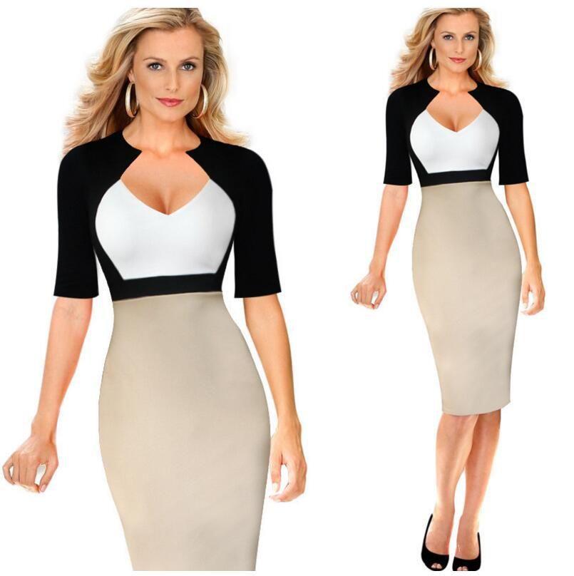 Slimming illusion dress plus size