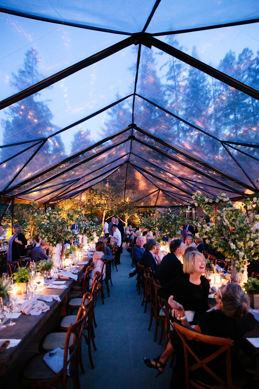 Outdoor Wedding Reception Stage