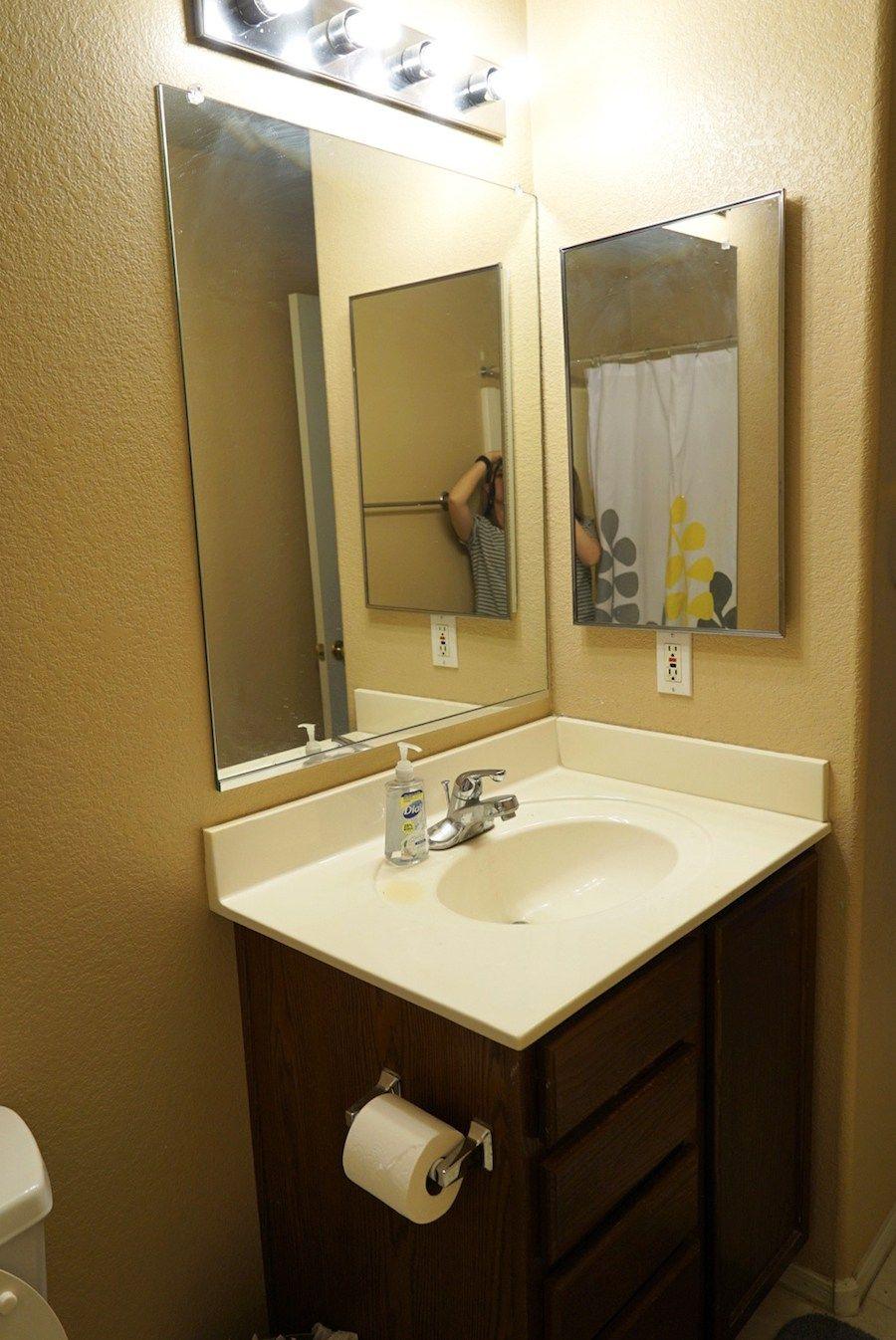 Bathroom Makeover with Vinyl Floor, Renovation Tips ...