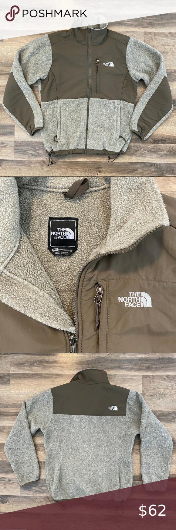 The North Face Tan Grey Fleece Jacket In 2020 Grey Fleece Jacket North Face Brand Fleece Jacket [ 1740 x 580 Pixel ]