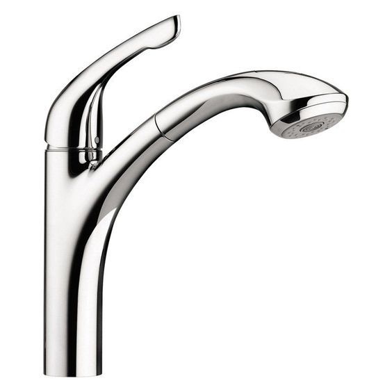 Hansgrohe Allegro E 04076 Single Handle Pull Out Kitchen Faucet ...