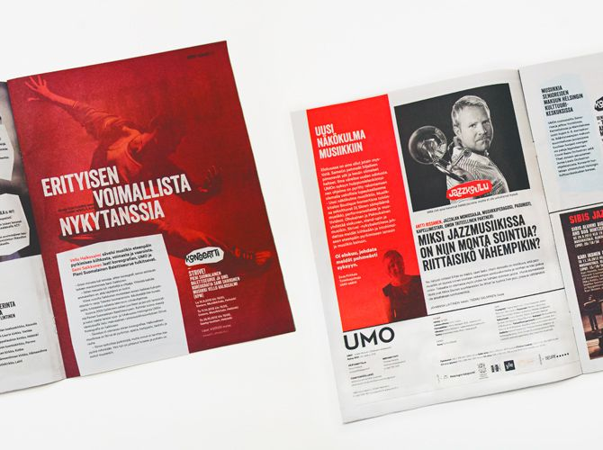 UMO Magazine redesign for UMO Jazz Orchestra