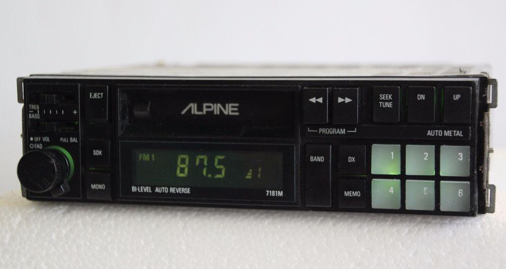 Alpine 7181m retro old school amfm cassette tape car