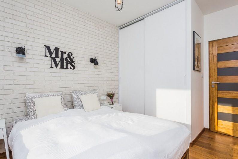Aranżacja Niewielkiej Sypialni W Stylu Skandynawskim Białe