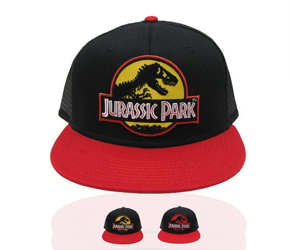 74842b229 Jurassic Park Movie Logo Red Patch or Yellow Patch Flat by TYGP ...