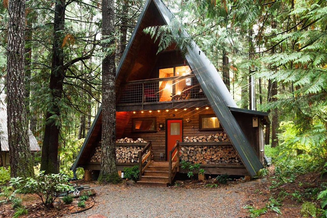 6 Instagrammable A Frames You Can Airbnb Green Wedding Shoes A Frame Cabin Cabin Cabin Life