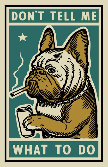 French Bulldog in Jumper A6 Postcard