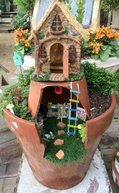 Pin by potranca zacatecana on art n craft fairy garden pinterest fairy garden with broken pots and succulents workwithnaturefo