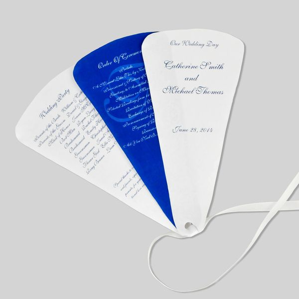 How To Make Wedding Program Fans Cheap And Easy To Put Together Wedding Program Fans Diy Wedding Programs Wedding Program Paper