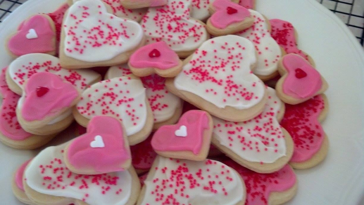 Valentine Almond Sugar Cookies! Cakes by Christy