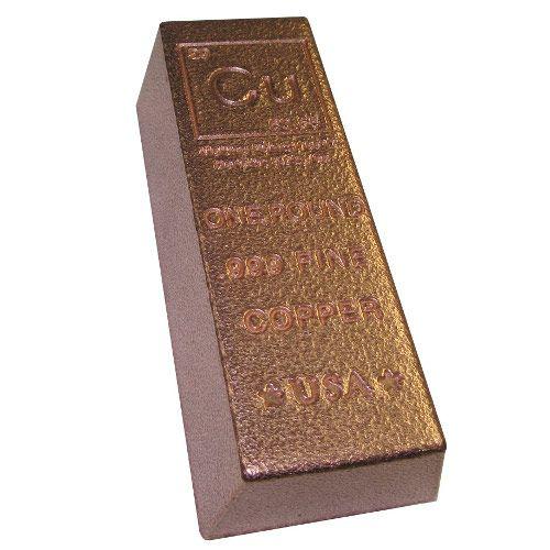 1 Pound Copper Bullion Loaf Bar New Copper Bar Bullion Copper