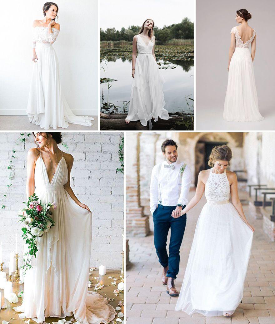 Suknia ślubna W Rustykalnymsielskim Stylu ślub Pinterest