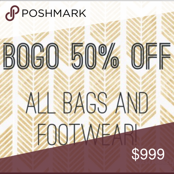 ba9f1eb1966 🎉TODAY ONLY🎉BOGO 1/2 off all bags and footwear! All bags and shoes ...