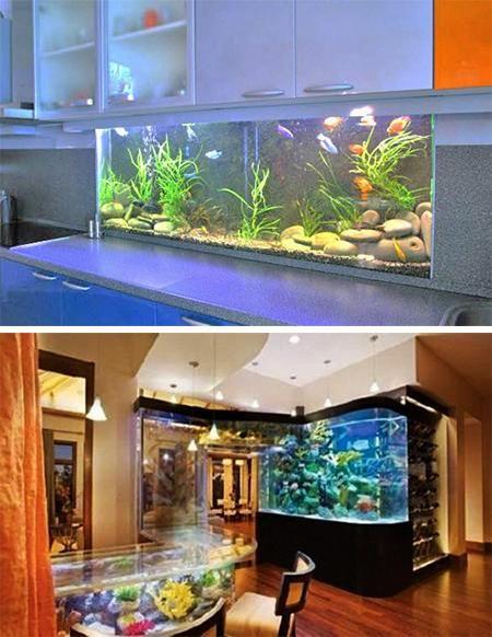 35 unusual aquariums and custom tropical fish tanks for unique interior design tropical fish. Black Bedroom Furniture Sets. Home Design Ideas