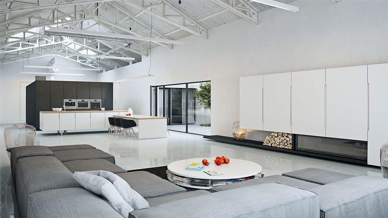 Luxurious Living Room - White Interior Design Style | Elegant living ...