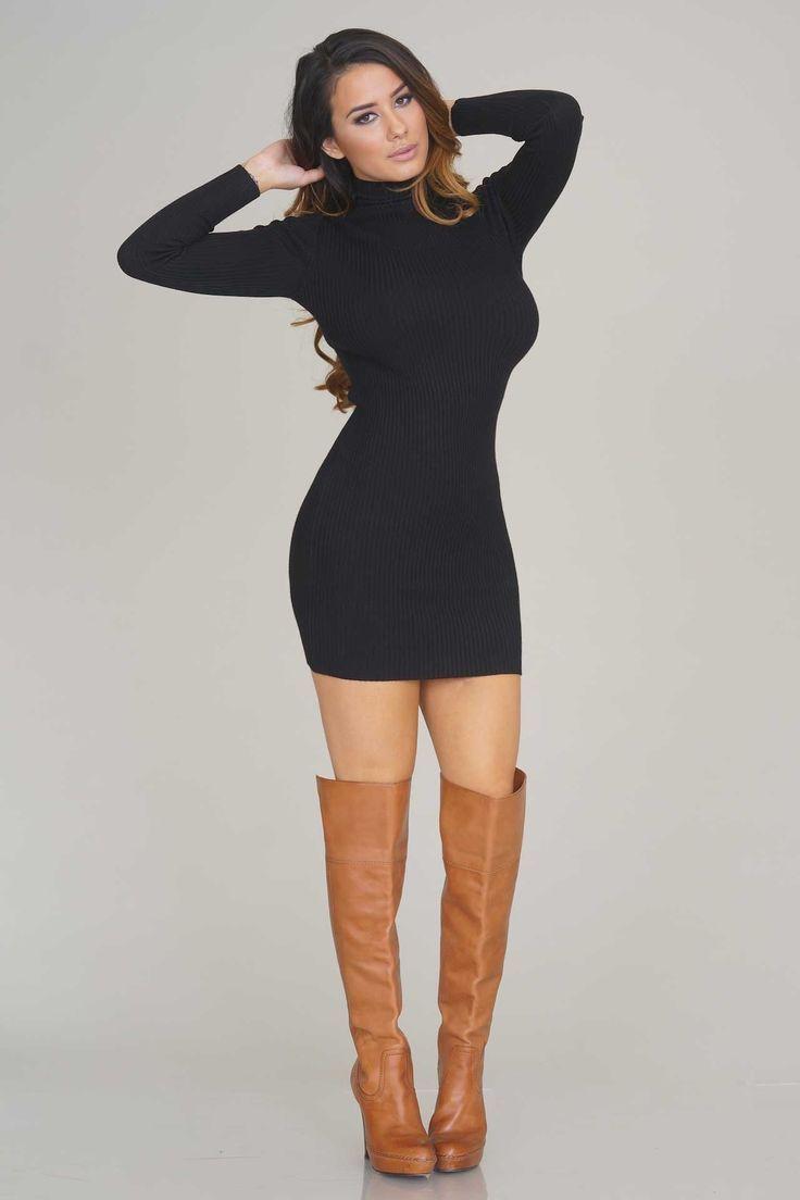 Lovely Black Turtleneck Sweater Dress : Amazing Black Turtleneck ...