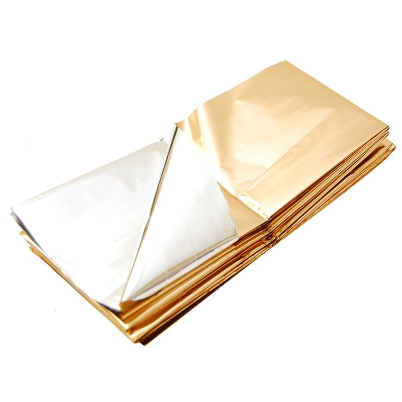 Nödfilt Guld/Silver - Rescue blanket in gold and silver foil. 39 kr