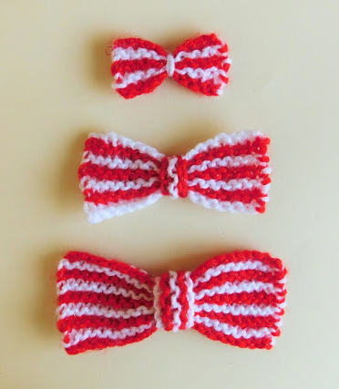 Super Striped Knit Bow Pattern Bow Pattern Striped Knit And Patterns