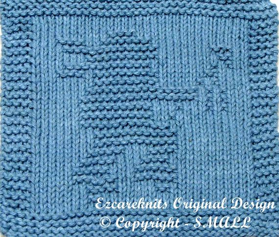 Baby Washcloths Knitting Patterns: Knitting Cloth Pattern LITTLE INDIAN Instant By