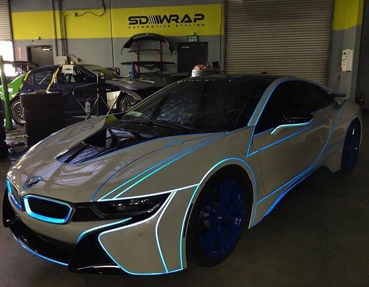 Bmw I8 With White Tron Wrap Follow Myaafranee For More