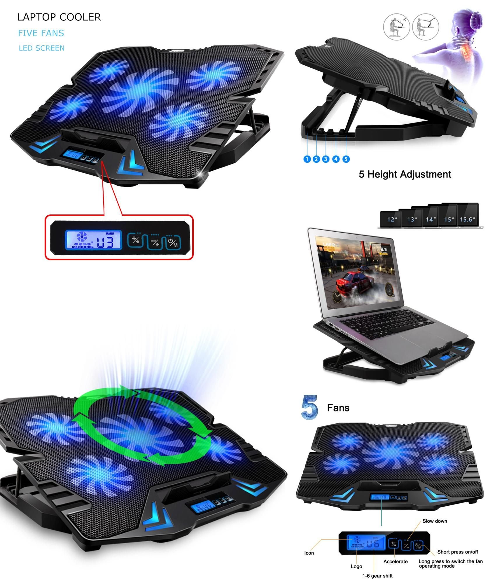 Visit To Buy 12 15 6 Inch Laptop Cooling Pad Laptop Cooler Usb