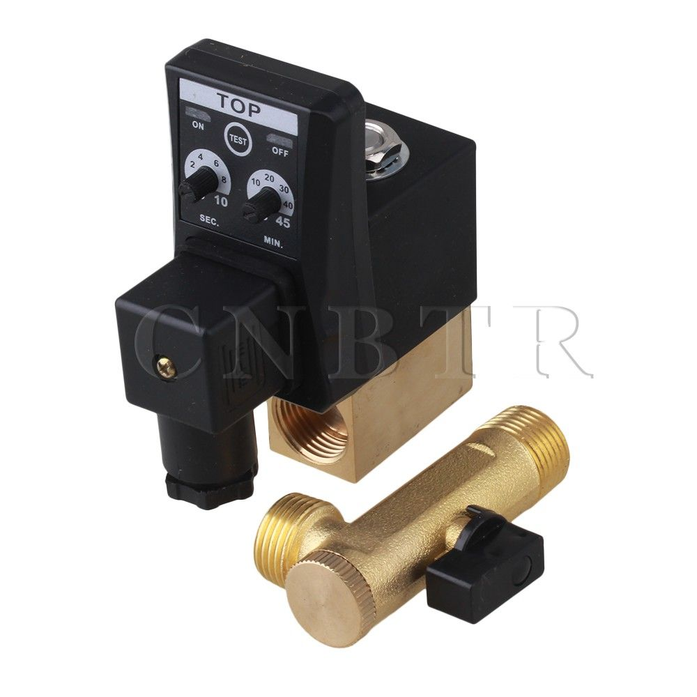 1//2/'/' AC 220V Automatic Electronic Timed Drain Valve for Air Compressed Gas Tank