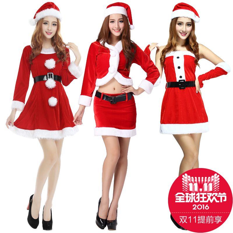 2016 Christmas dress women red sexy Santa Clothes clothes Christmas dresses  female adult female photo uniforms ae4837661ac6
