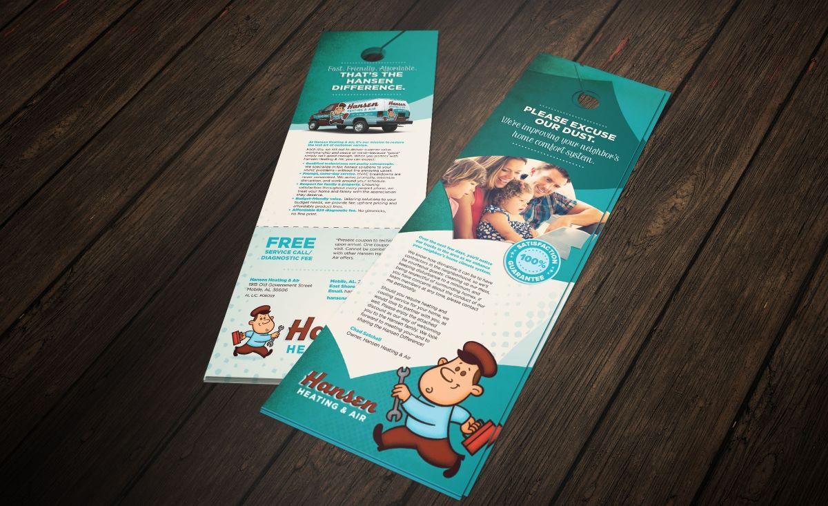 Door Hanger Graphic Design pocket folder design and printing. - nj advertising agency, nj ad