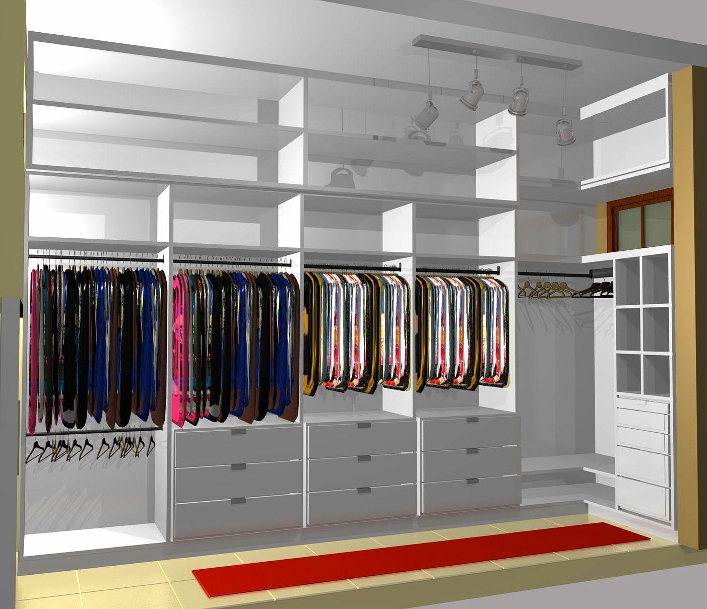 Modelos De Closet Para Espa O Pequeno Pesquisa Google Closet  ~ Quarto De Casal Pequeno Com Closet