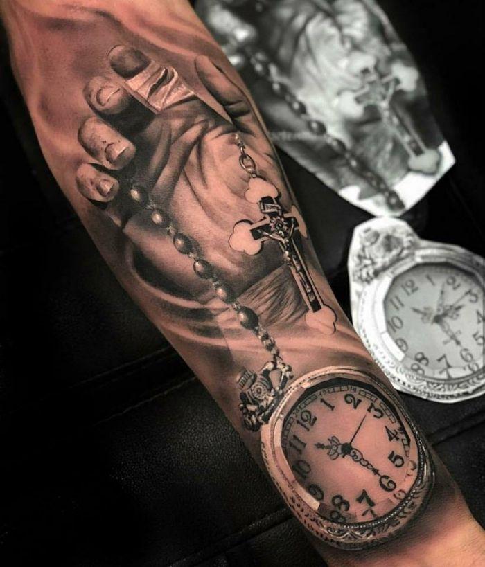 ▷ 1001 + Ideen für 3D Tattoos + Info über alles, was Sie darüber wissen müssen #rosarybeadtattoo
