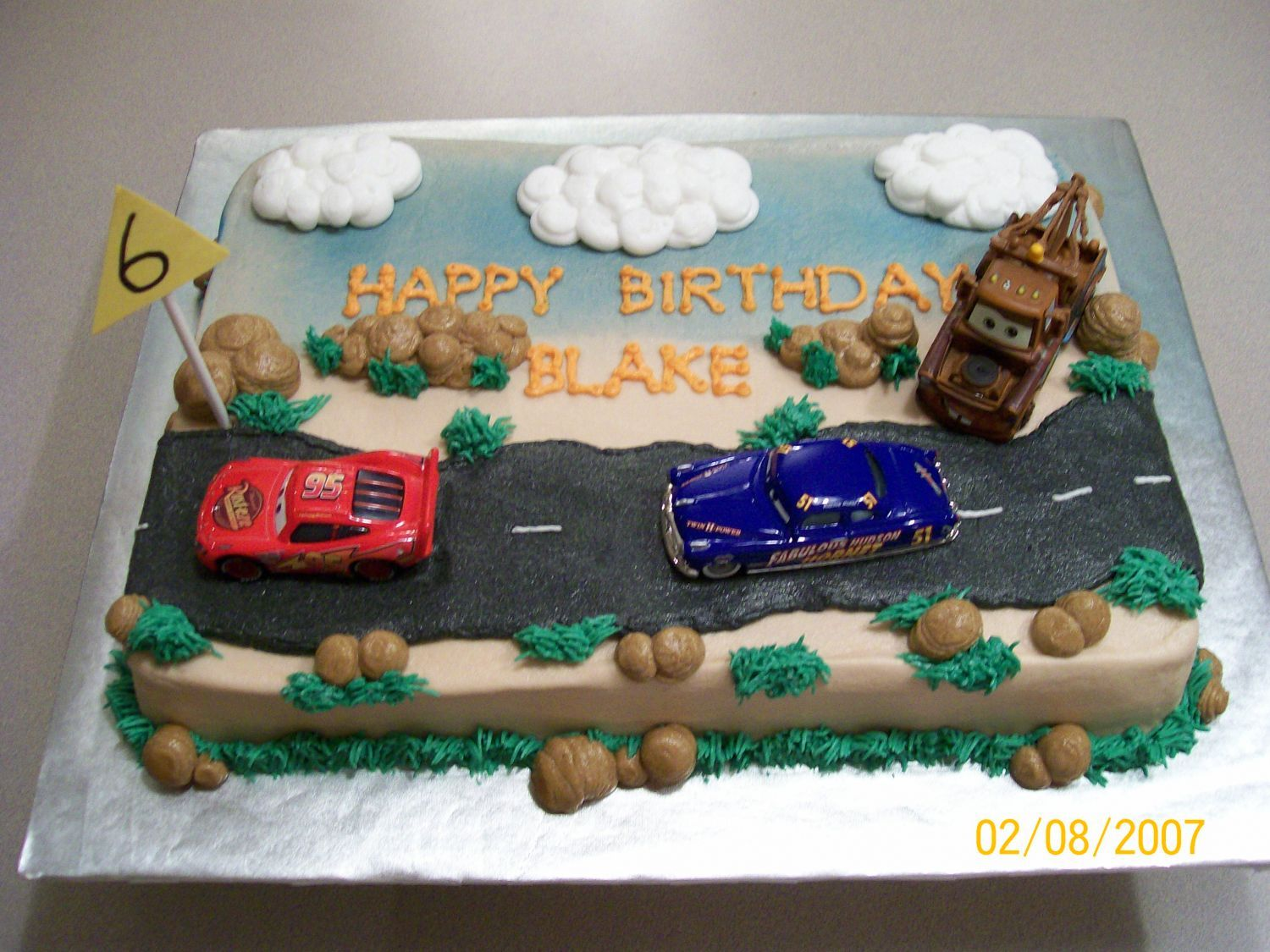 Peachy Disney Cars Birthday Cake With Images Cars Birthday Cake Birthday Cards Printable Opercafe Filternl