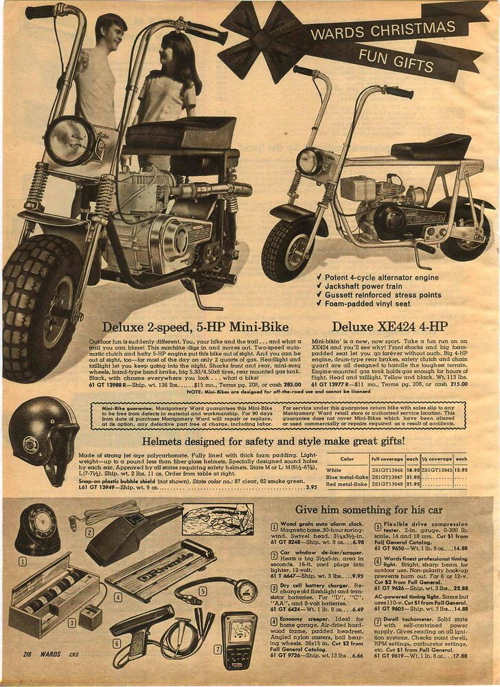 Elegant 1970 ADVERTISEMENT Montgomery Ward Mini Bike Jackshaft Power Train XE424
