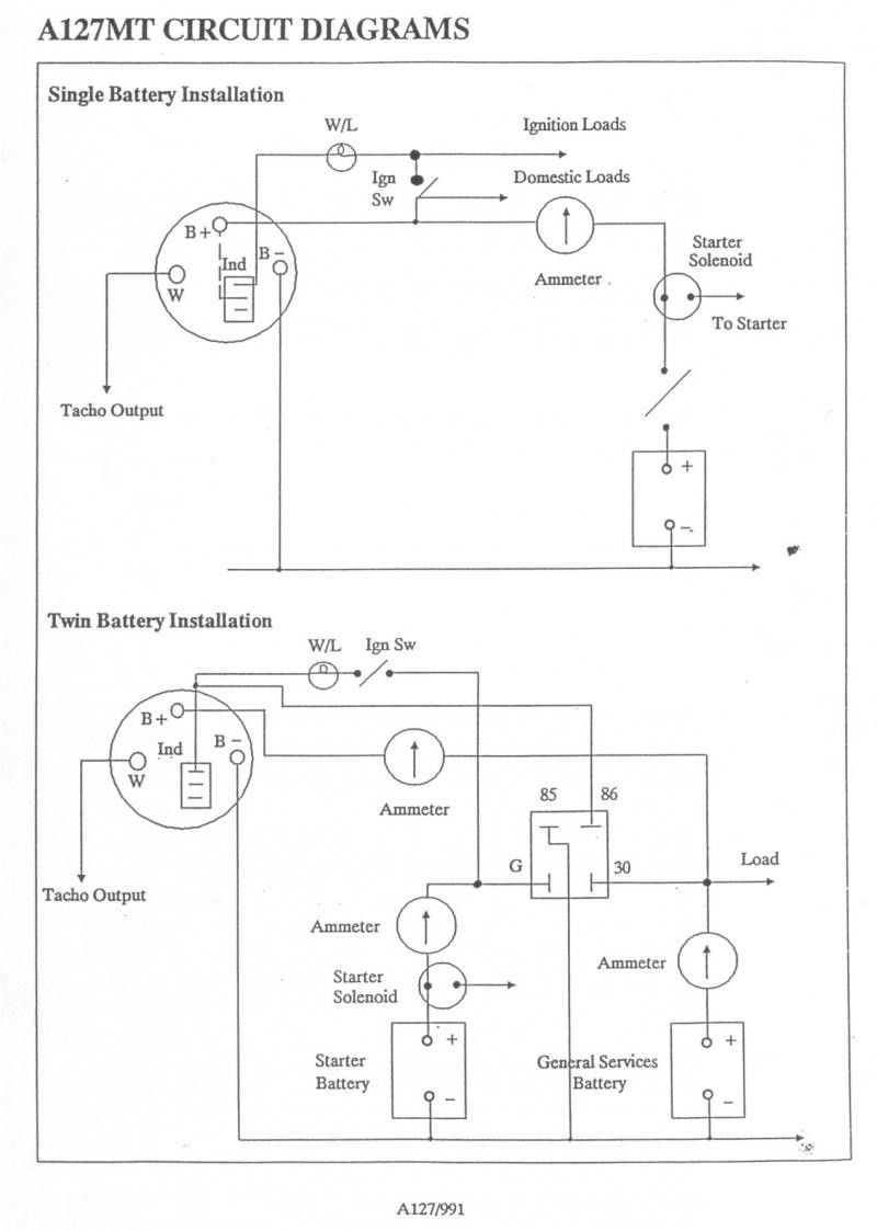 A127 Alternator Wiring Diagram