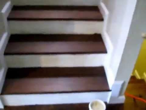 Installing Stair Molding Base Trim Youtube With Images