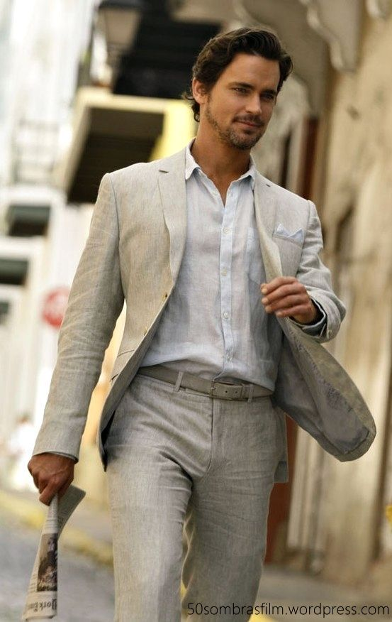 Matt Bomer Mens Style Linen Wedding Suit Linen Suit Linen