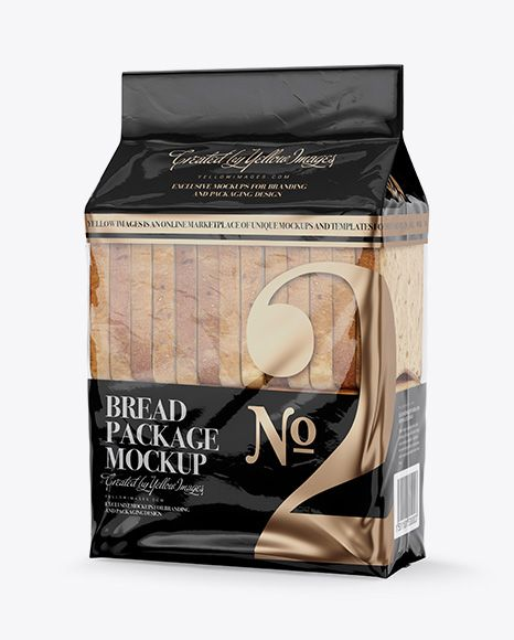 Download Bag W Sliced Bread Mockup Half Side View In Packaging Mockups On Yellow Images Object Mockups Mockup Packaging Mockup Free Psd Mockups Templates