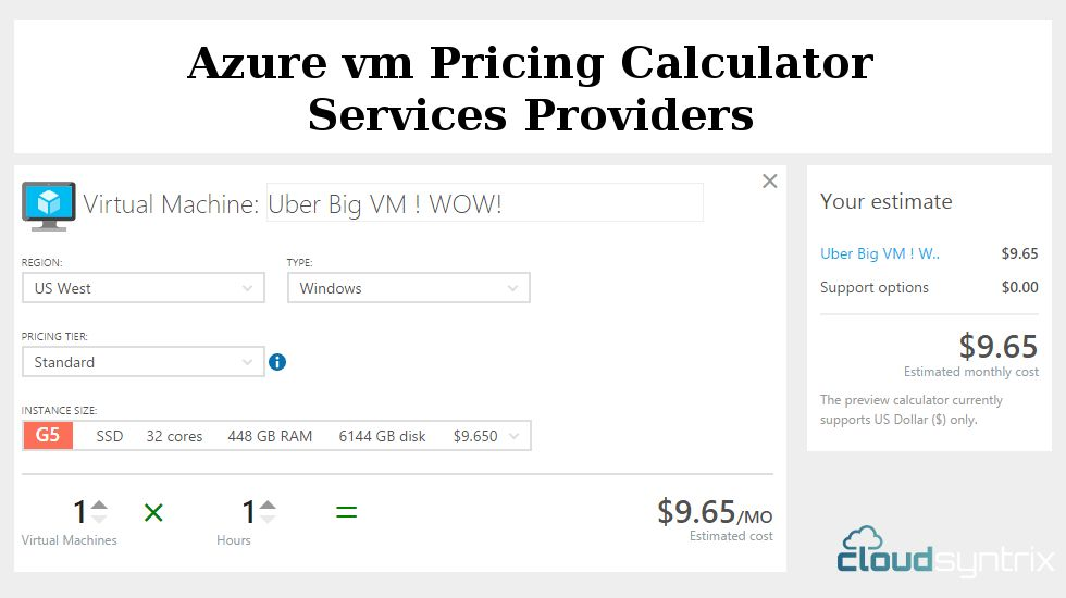 Cloudsyntrix Azure Vm Pricing Calculator Services Providers