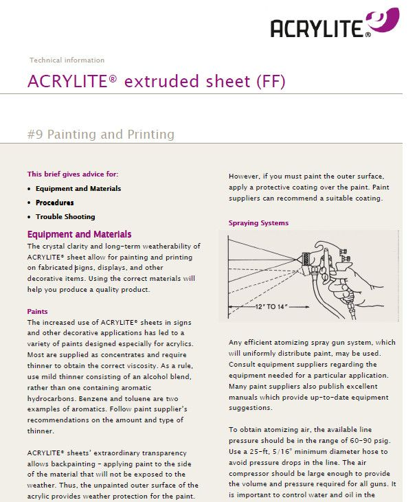 Pin by ACRYLITE® Acrylic Products on Working with acrylic   Paint